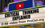 Video exploring critical thinking and how it leads to great citizen involvement