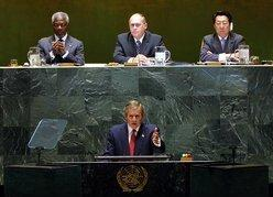 President Bush remarks at the United Nations General Assembly September 12 2002.jpg