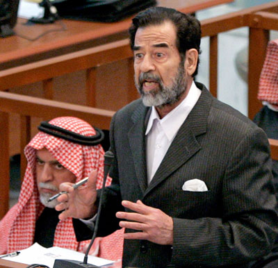 Saddam Hussein goes on trial for crimes against humanity