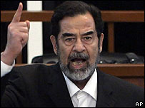 Saddam shouted God is great as chief judge Raouf Abdul Rahman read out the court verdict