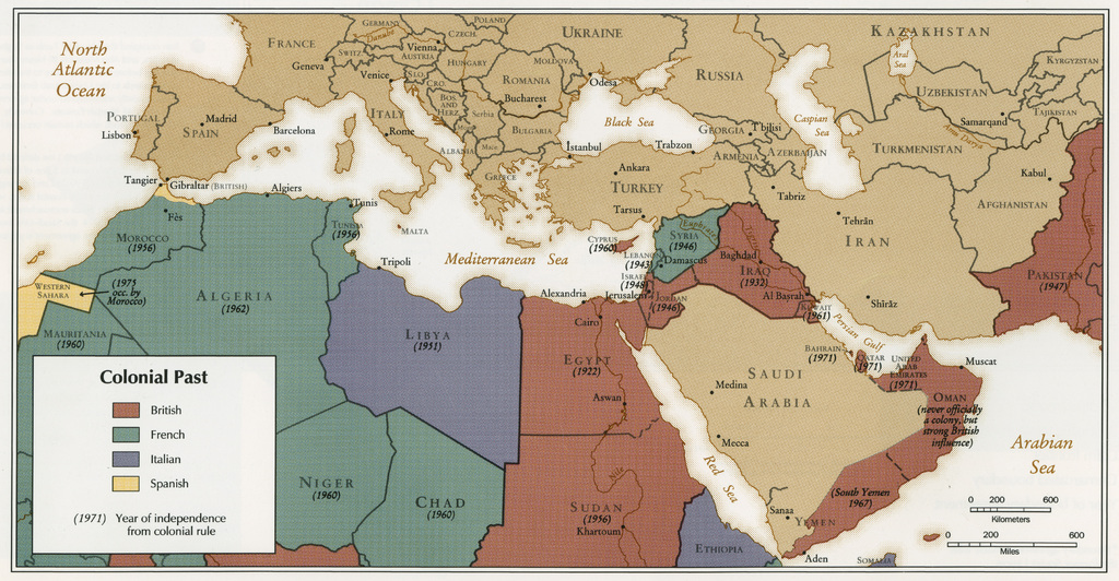 Map Of Iraq War. Map - Colonial Past