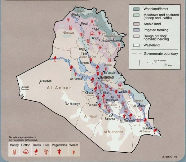 Iraq Land Use Map Us Iraq War Proconorg - Us-land-use-map