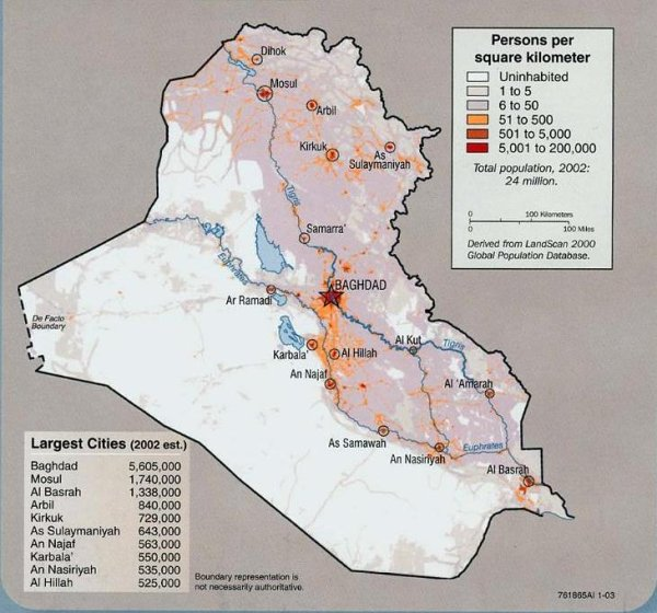 Iraq - Potion Density Map - US - Iraq War - ProCon.org Samawah Iraq Map on tehran iraq map, taji iraq map, dahuk iraq map, abu ghraib iraq map, basra iraq map, muqdadiyah iraq map, green line iraq map, iraq war invasion map, tel keppe iraq map, ramadi iraq map, daesh iraq map, husaybah iraq map, abu dhabi iraq map, balad iraq map, kirkuk iraq map, nasiriyah iraq map, samarah iraq map, rawa iraq map, tikrit iraq map, kuwait iraq map,